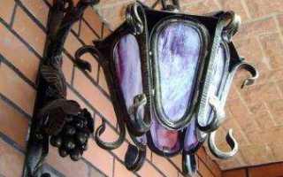 Люстры кованые (фото)