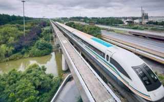 Магнитные железные дороги в китае