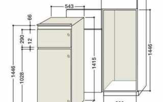 Правильный выбор и установка встраиваемых холодильников для кухни