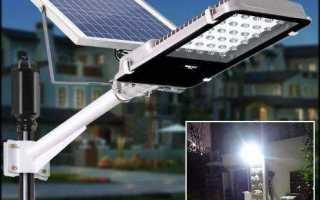 Варианты уличного освещения на солнечных батареях
