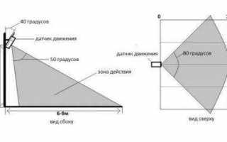 Схемы подключения датчика движения для включения света с включателем и без такового