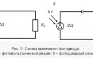 Принцип работы фотодиода, схема и устройство фотодиода