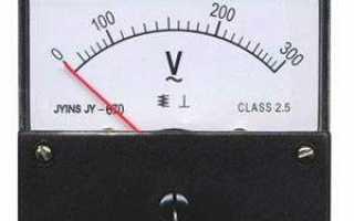 Как включается в цепь амперметр и вольтметр