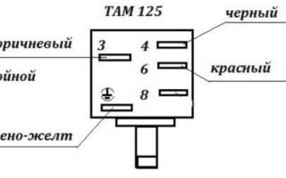 Установка теплового реле (схема)